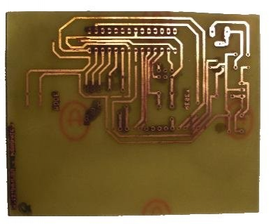 The control circuit PCB before drilling and soldering